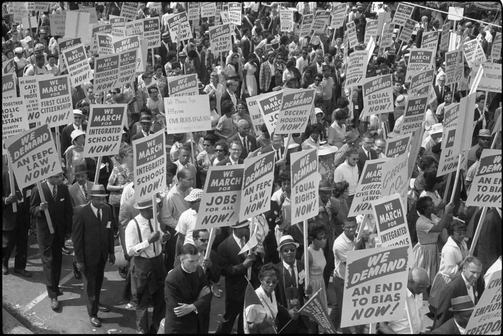 2.3.5 Demonstrators Marching in the Street Holding Signs during the March on Washington, 1963