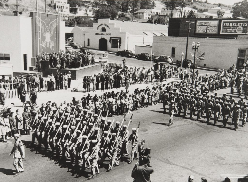 1.2.2 Port Hueneme Seabees at Bond Rally Drive in downtown Ventura, September 1943