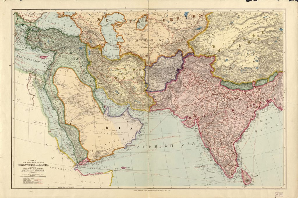 10.6.1 A map of the countries between Constantinople and Calcutta : including Turkey in Asia, Persia, Afghanistan and Turkestan